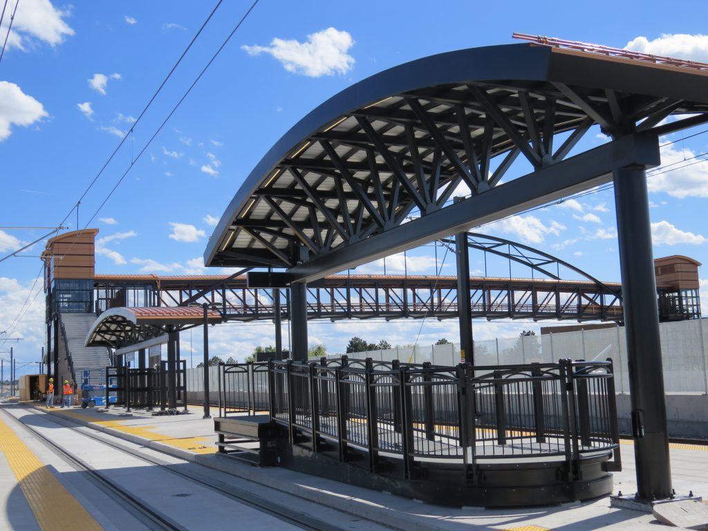 The Florida Station includes a pedestrian bridge over I-225 and connects the station to the Aurora Medical Center on the opposite side of the highway.