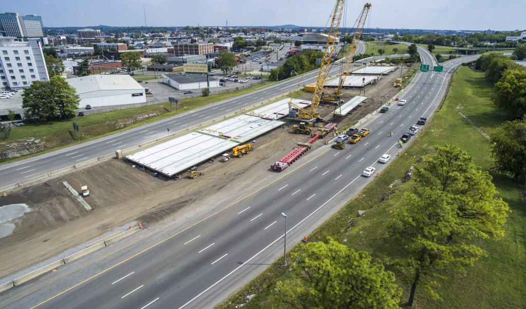 The Fast Fix 8 project included installing eight new bridges in Nashville's busy downtown corridor. The project was completed seven months ahead of schedule.