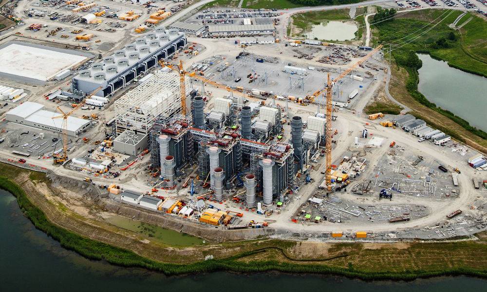 The Paradise Combined Cycle Plant is being built adjacent to the TVA Paradise Fossil Plant.