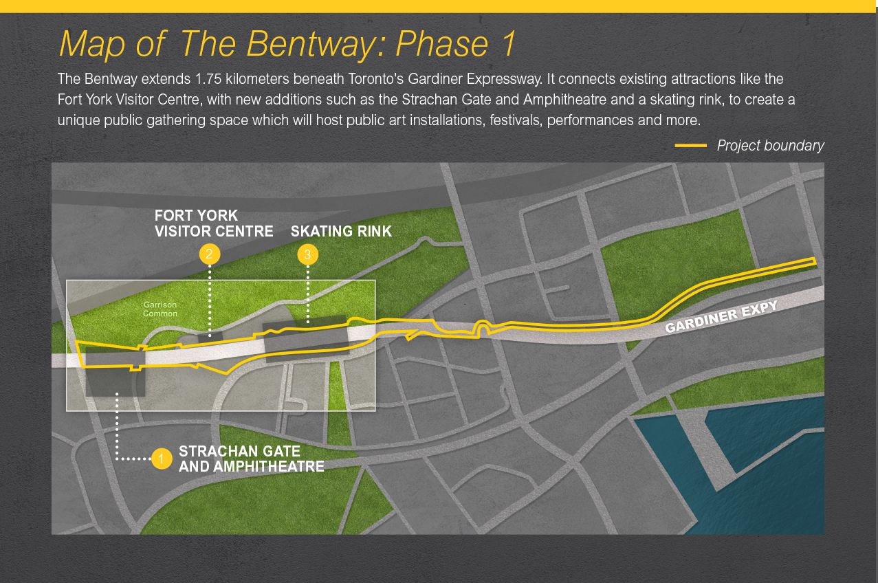 Map of The Bentway