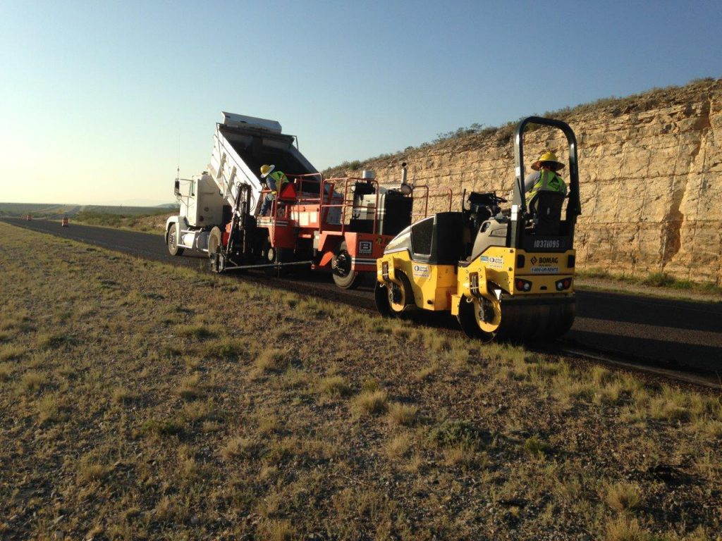 Crews placed 333,000 tons of asphalt hotmix on paving projects in West Texas.