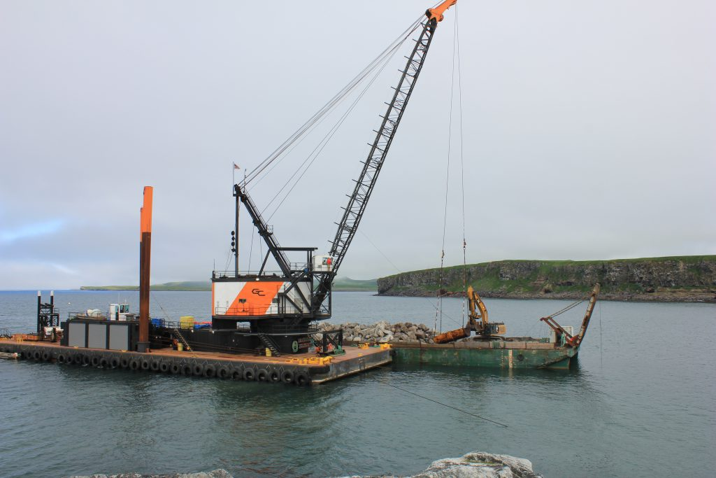 Crews completed 83,000 cubic yards of dredging on  the project.